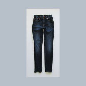 J CREW Grace High Rise Skinny Ankle, Dark, Size 24
